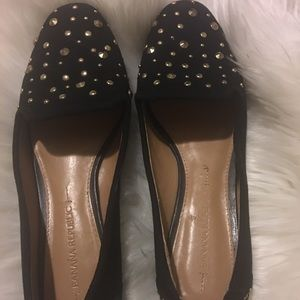 Banana Republic Black Studded flats